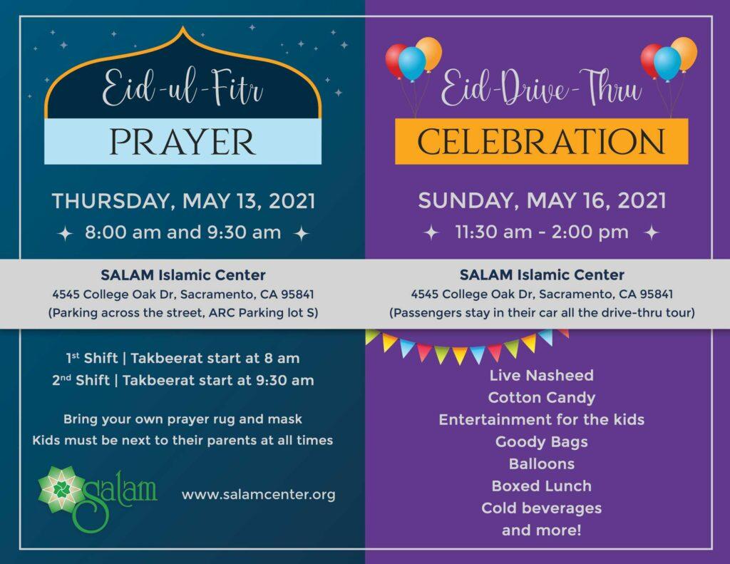 Eid-ul-Fitr 2021 at SALAM, Sacramento, CA