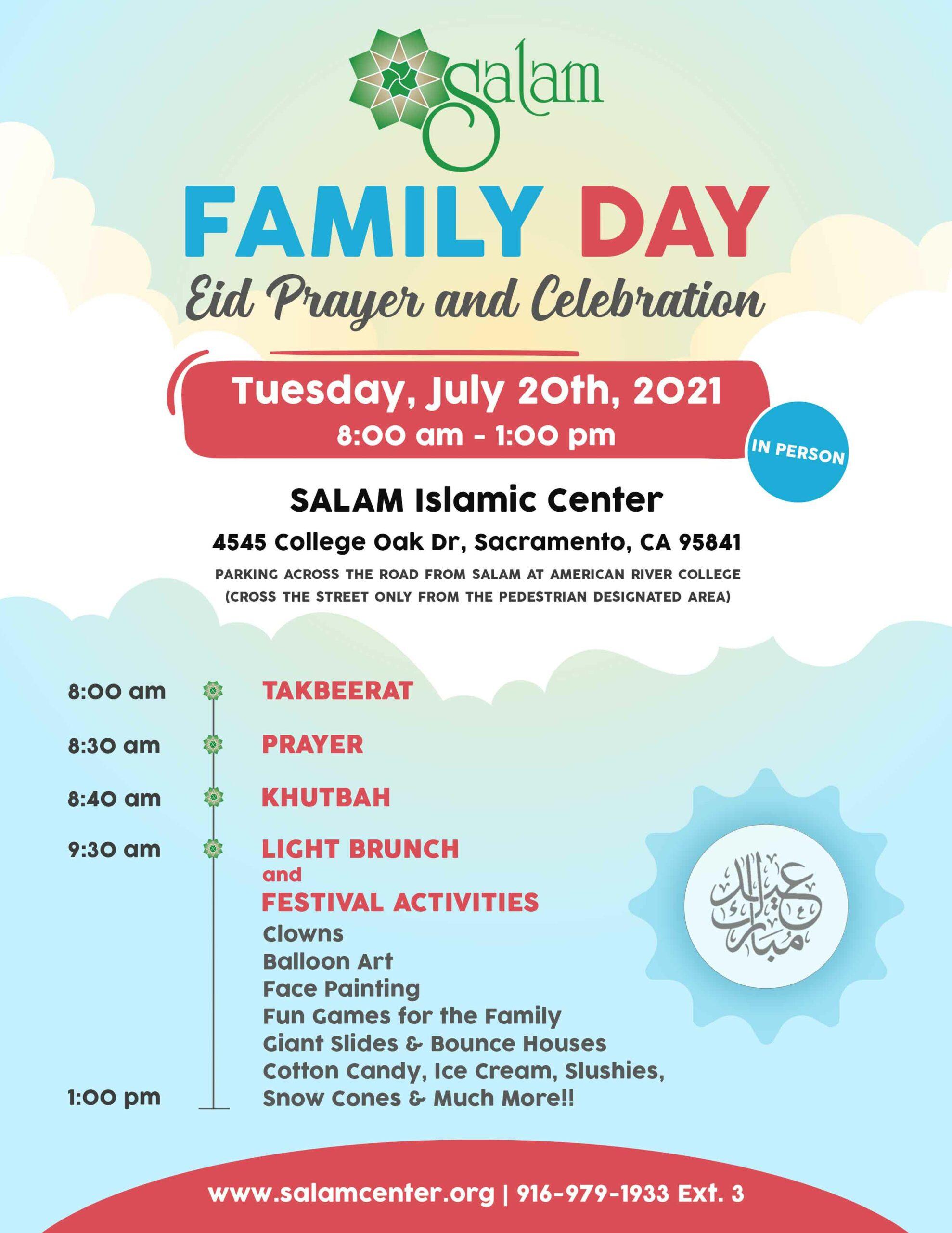 SALAM Eid-ul-adha 2021 Sacramento, CA