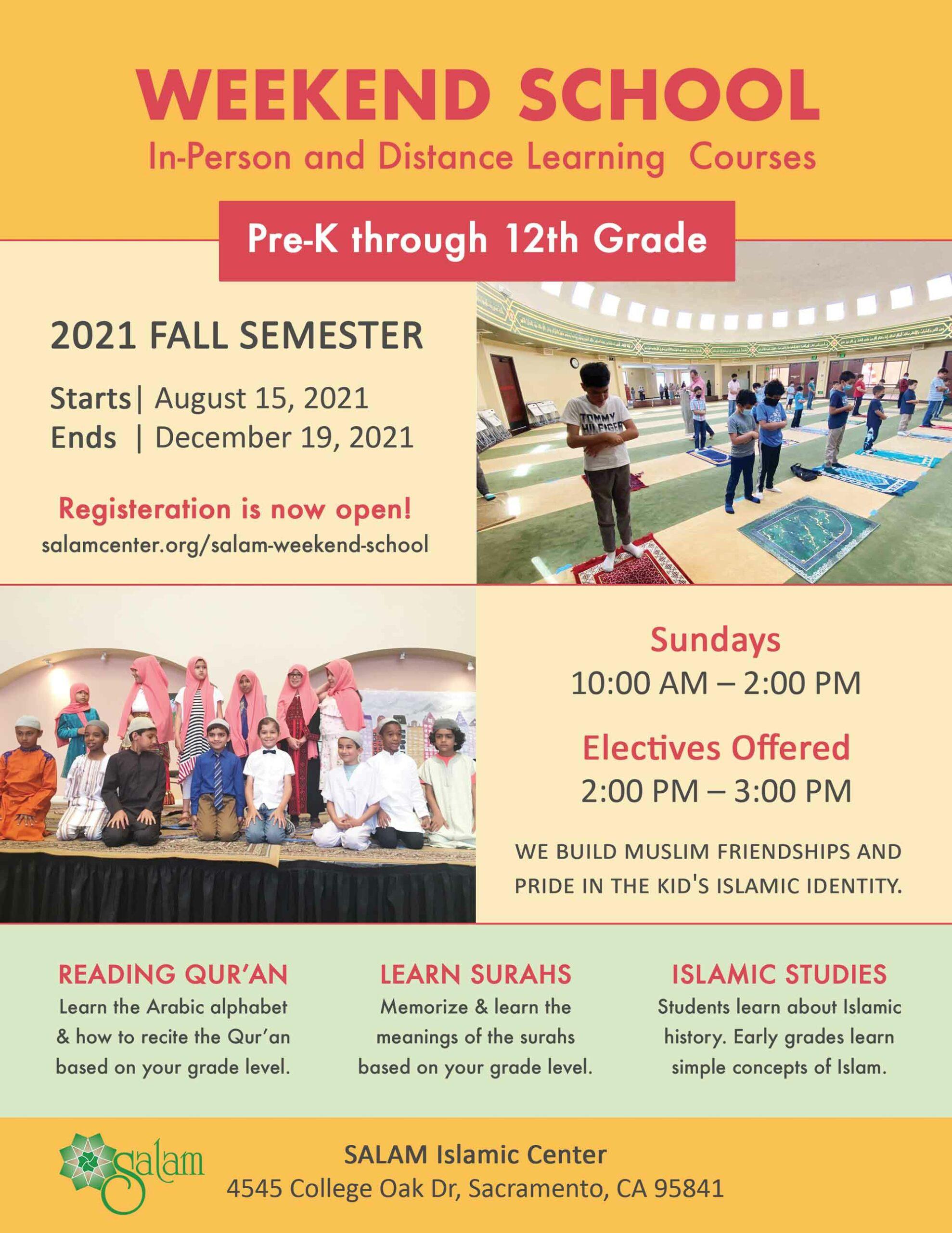 SALAM Weekend School 2021-22 Sunday School